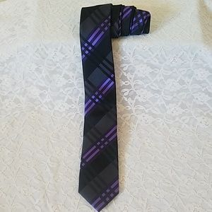Little Black Tie Accessories - Little Black Tie Black & Purple